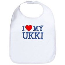I Love My Ukki Bib