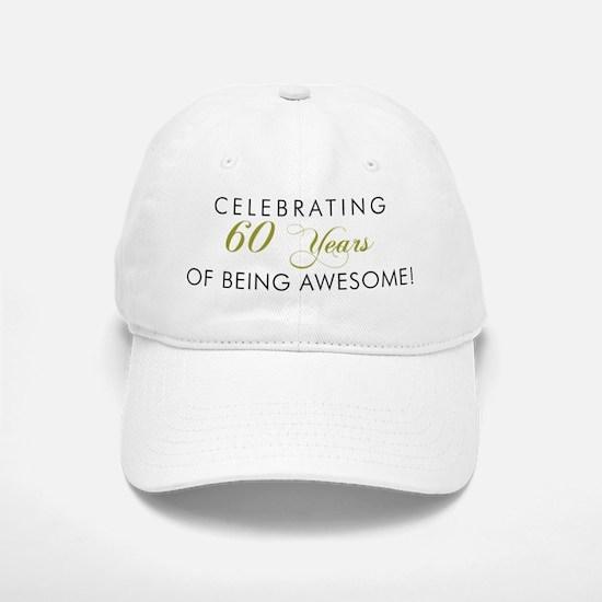 Celebrating 60 Years Awesome Light Baseball Baseball Baseball Cap
