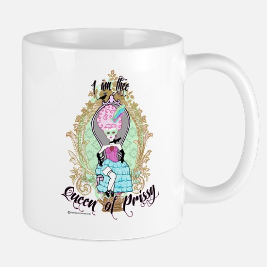 queen of prissy large Mugs
