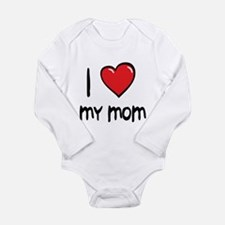 Cute I love my mom Long Sleeve Infant Bodysuit
