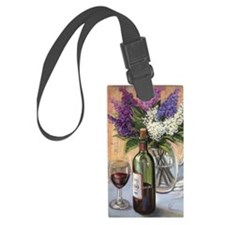 Glass Of Wine And Lilac Luggage Tag