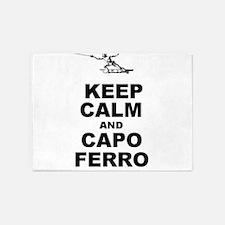 Keep Calm and Capo Ferro 5'x7'Area Rug