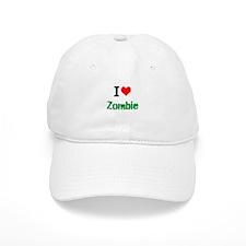 I Love Zombie Baseball Baseball Cap