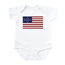 The Union Civil War Flag Infant Bodysuit
