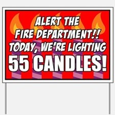 55 Candles Fire Department Yard Sign