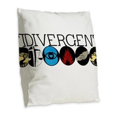 Divergent1 Burlap Throw Pillow