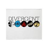 Divergentthemovie Fleece Blankets