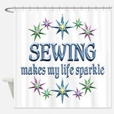 Sewing Sparkles Shower Curtain