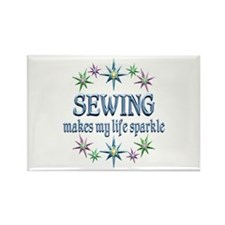 Sewing Sparkles Rectangle Magnet