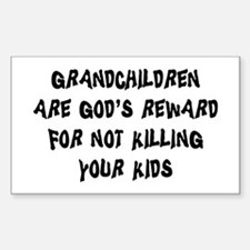 Funny Grandparents Rectangle Decal