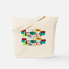 Atomic Era Abstract Tote Bag
