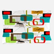 Atomic Era Abstract Pillow Case