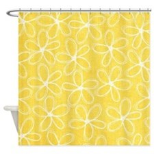 Doodle Flowers Shower Curtain