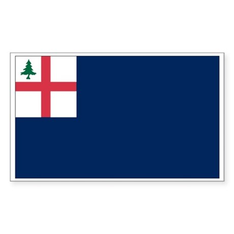Bunker Hill Flag Rectangle Sticker