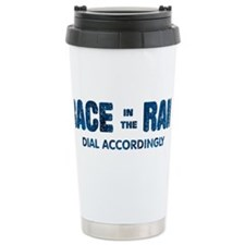 Race in the Rain Dial Accordingly Travel Mug