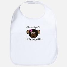 Grandpa's Little Monkey Girl funny Bib