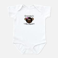 Grandpa's Little Monkey Girl Funny Baby bodysuit
