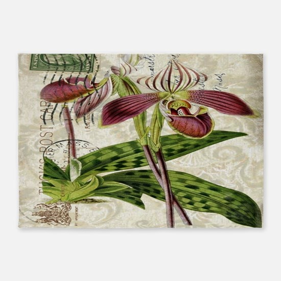 orchid french botanical art paris fashion 5'x7'Are