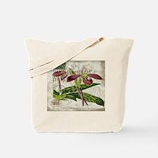 orchid french botanical art paris fashion Tote Bag