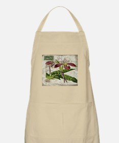 orchid french botanical art paris fashion Apron
