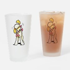 Labradoodle Playtime Drinking Glass