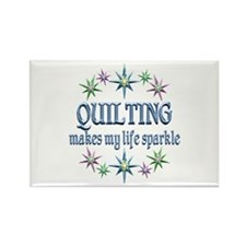Quilting Sparkles Rectangle Magnet (100 pack)