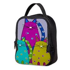 Whimsical Cats Neoprene Lunch Bag