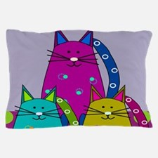 Whimsical Cats Pillow Case