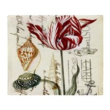 orchid french botanical art paris fashion Throw Bl