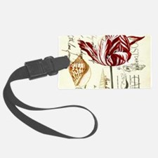 orchid french botanical art paris fashion Luggage Tag