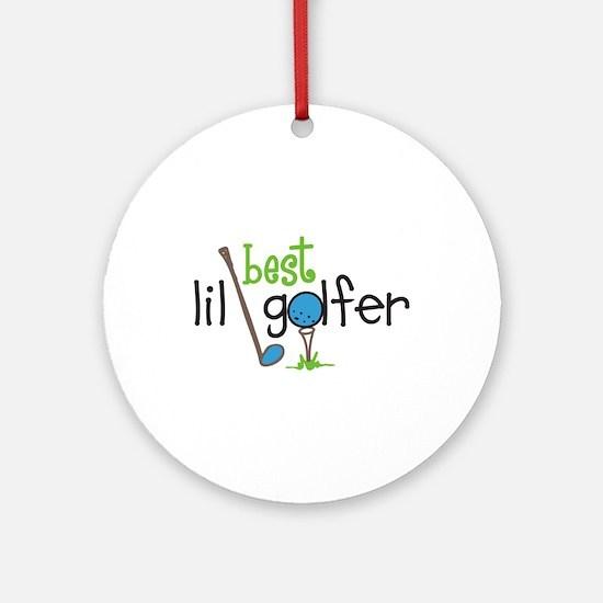 Best Lil Golfer Ornament (Round)