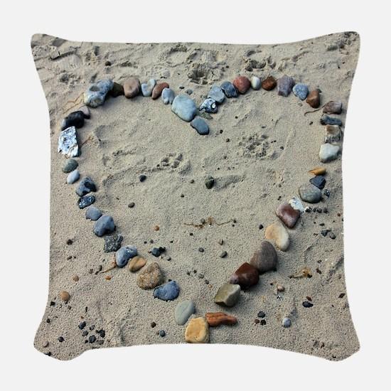 beach-193786 Woven Throw Pillow