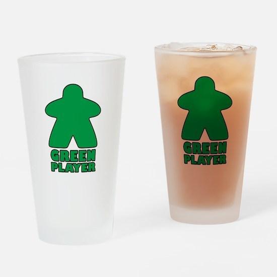 Green Player Drinking Glass