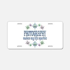 Photography Sparkles Aluminum License Plate