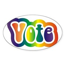 Hippy Vote Oval Decal