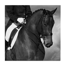 Partnership. Dressage Horse. Tile Coaster