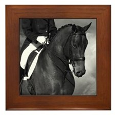 Partnership. Dressage Horse. Framed Tile