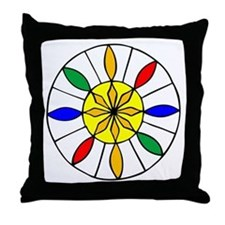 Eight Pointed Star Hex Throw Pillow