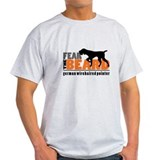 Fear the beard german wirehaired pointer t shirt Mens Light T-shirts