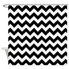 Black and white Chevrons 2 Shower Curtain