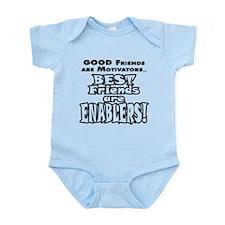 BestFriendsareEnablers_onLight Body Suit