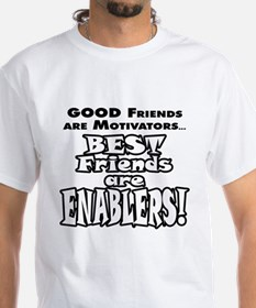 BestFriendsareEnablers_onLight T-Shirt