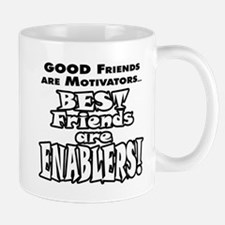 BestFriendsareEnablers_onLight Mugs