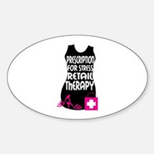 Prescription For Stress Retail Therapy Decal