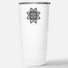 Black Flower Tumbler Travel Mug