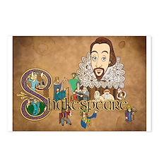 Shakespeare Illuminated Postcards (Package of 8)