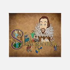 Shakespeare Illuminated Throw Blanket