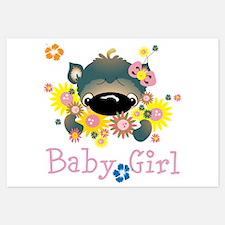 Personalize Name Big Nose Cat Invitations