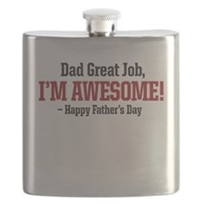 Dad Great job, Im Awesome! happy fathers day Flask