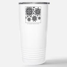 Black Star Flower Travel Mug
